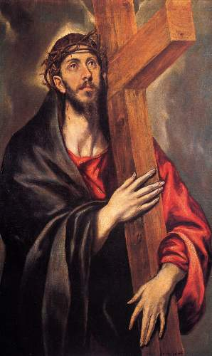 Christ carrying the cross [4] by Greco